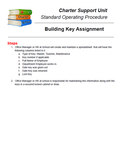 SOP: Building Key Assignment