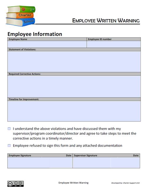 Employee Written Warning
