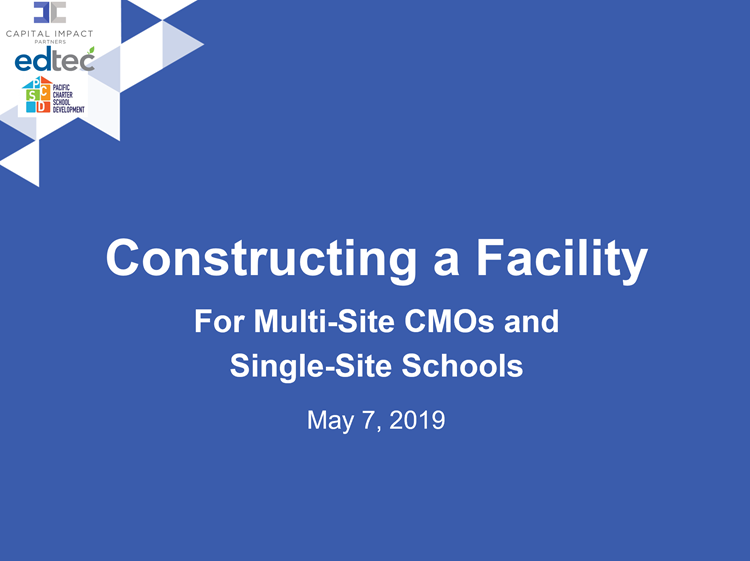 From Here to Facility: Overview of Constructing a Charter School Facility