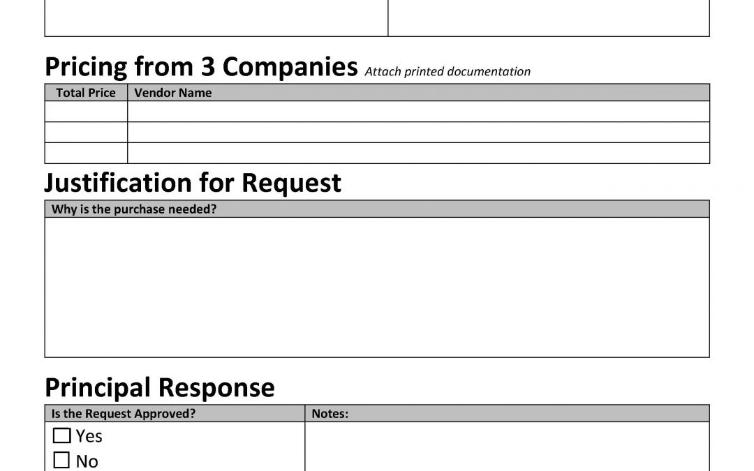 Employee Purchase Request Form