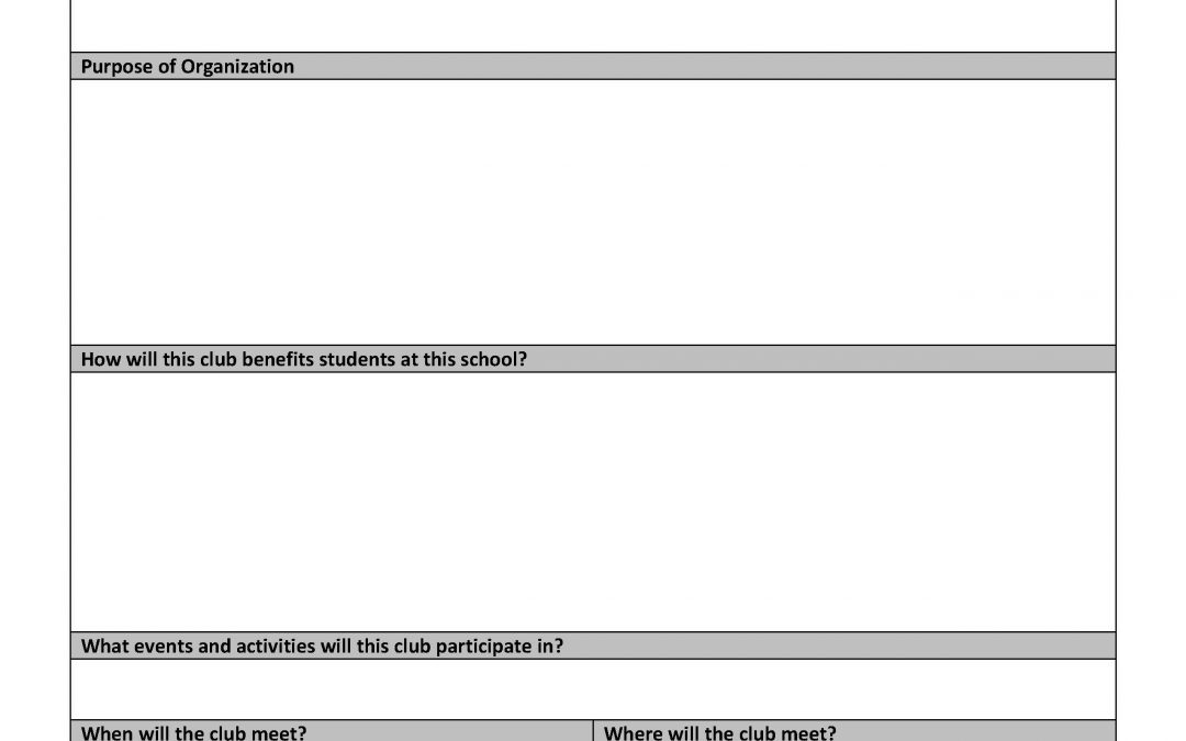 New Student Club Request Form