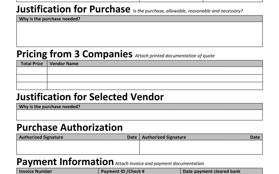 Procurement Documentation Form