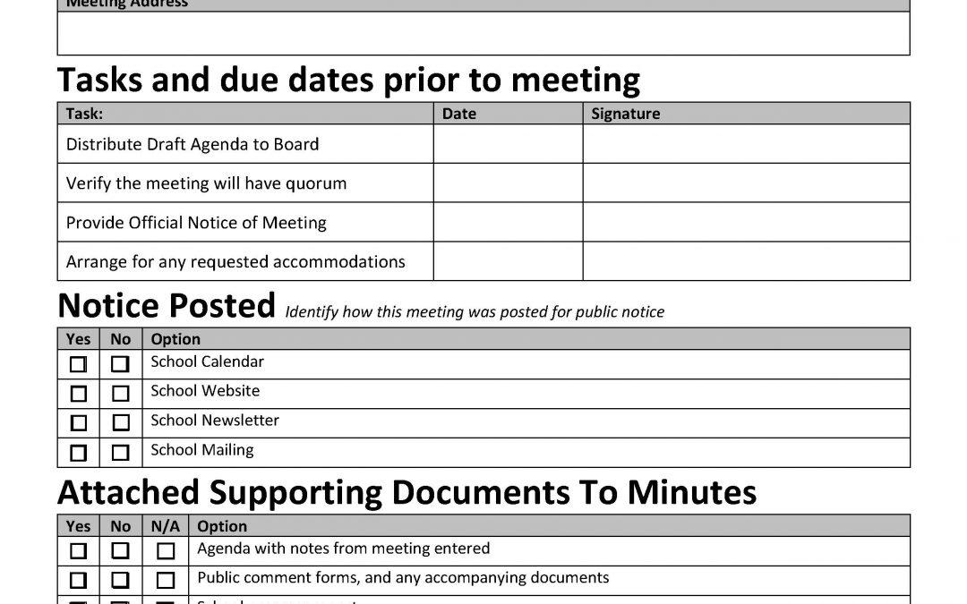 Sunshine Compliance Checklist