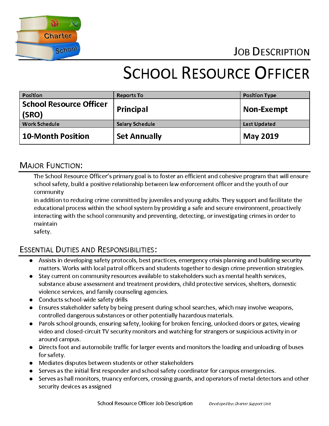 Job Description: School Resource Officer