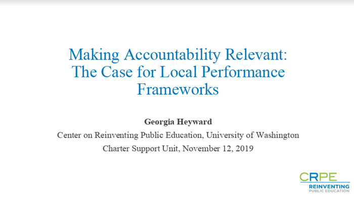 Local School Performance Frameworks in the Age of ESSA and Multiple Authorizers
