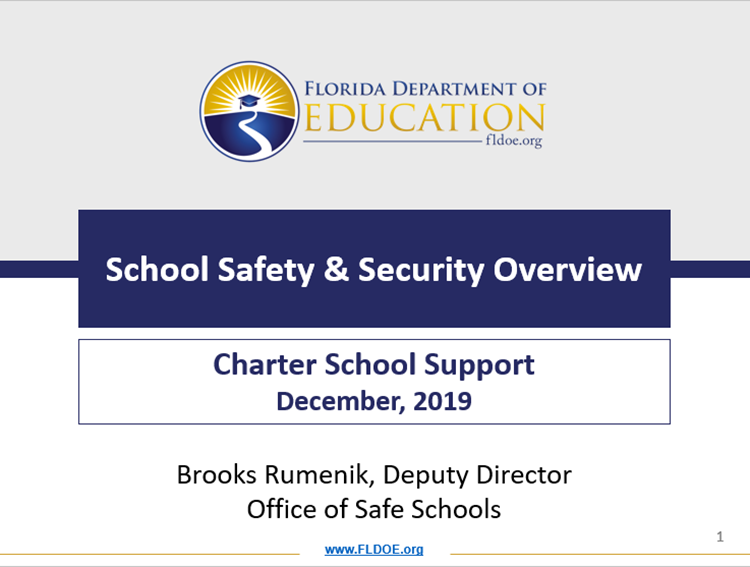 New School Safety Requirements for Charter Schools