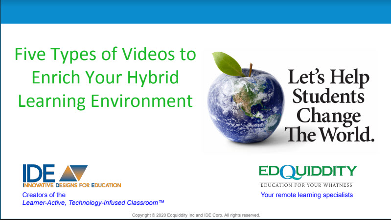 Five Types of Videos to Enrich Your Learning Environment