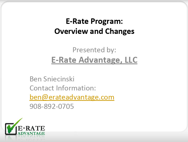 E-Rate Overview and Updates for 2020-21
